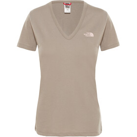 The North Face Simple Dome Camiseta Manga Corta Mujer, silt grey